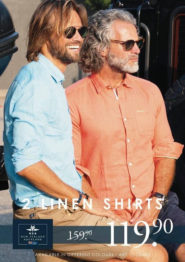 N.Z.A. linnen shirts